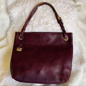 Dooney & Bourke soft pebble leather hobo bag